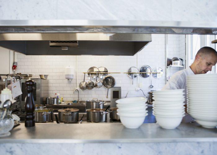 Chef working at restaurant kitchen